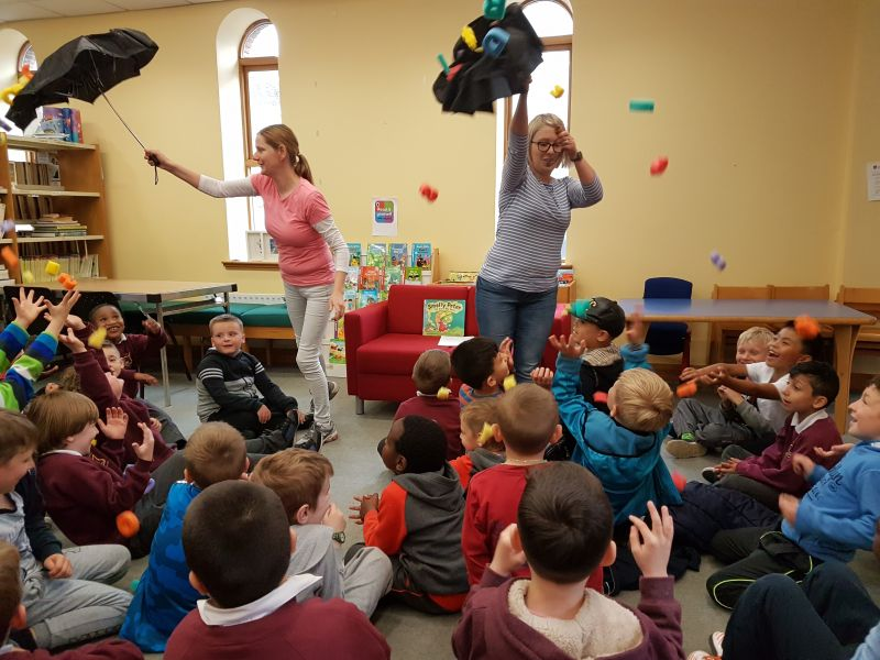 Senior Infants enjoyed a recent trip to the Letterkenny Library for some storytelling, rhymes and arts and crafts.